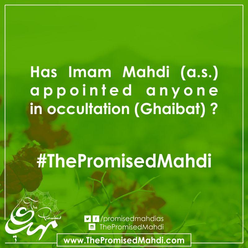 Has Imam Mahdi Appointed Representative in Occultation